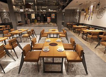 美式复古创意火锅餐厅桌