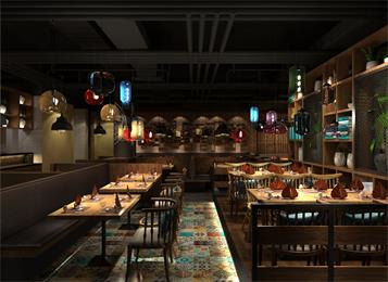 叙尚坊秘汁焖锅餐厅桌椅