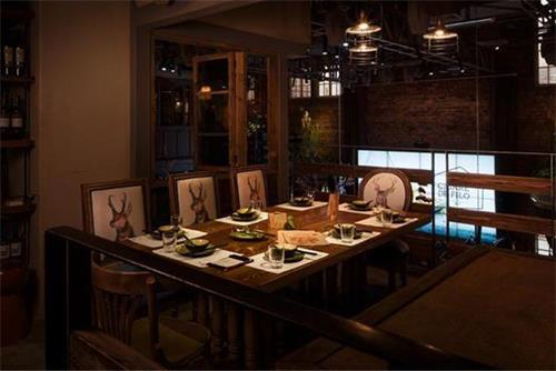钱柜娱乐网站_胡桃里音乐酒馆餐桌椅实拍图
