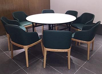 2017新款折叠圆桌椅_主题中餐厅餐桌椅