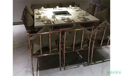 韶关定制火锅电磁炉桌子一体价格--海德利家具