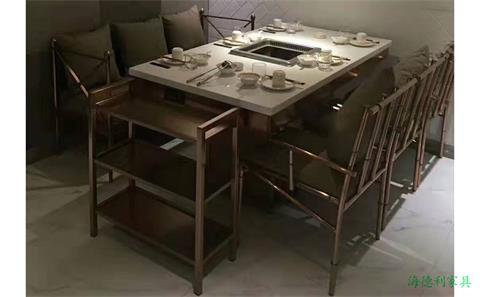 河北保定订制电磁炉火锅桌椅哪里有卖 --海德利家具