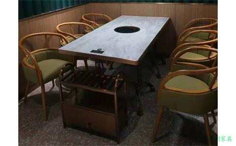 淮安订制电磁炉单人火锅桌厂家 --海德利家具
