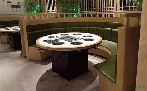 徐州订制一人一个电磁炉小火锅桌子直销厂家--海德利家具