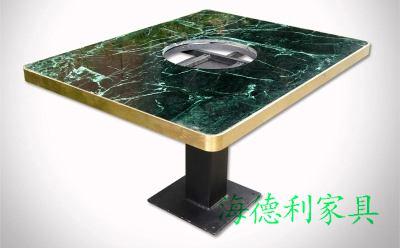 莆田批发隐藏式电磁炉火锅桌专业制造商--海德利家具