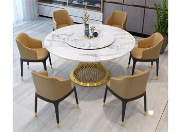 意式轻奢大理石餐桌现代流行