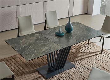 意式极简大理石餐桌创意餐桌