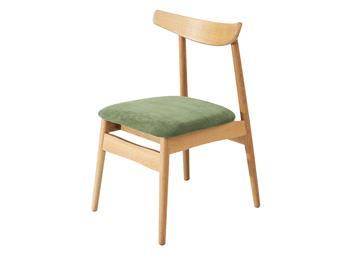 北欧简约风格实木餐椅 白橡木休闲椅子