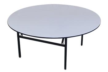 酒店折叠大圆桌 铁艺实木宴会桌