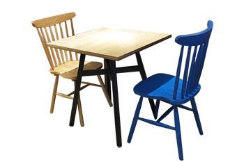 北欧时尚餐桌五金桌架普丽白枫木防火板桌面