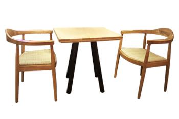 豪客来牛扒西餐厅实木北欧时尚桌椅