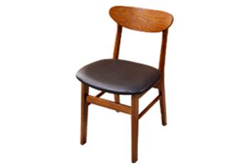 现代简约休闲靠背椅 火锅店实木凳子