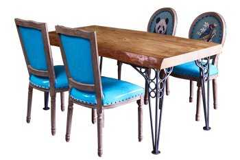 主题餐厅铁艺桌椅组合