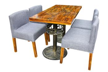 钱柜娱乐网站,钱柜娱乐官方网站_美式乡村 复古铁艺餐桌实木餐桌椅