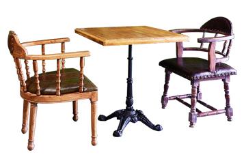主题餐厅古董餐椅欧式复