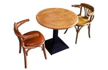 钱柜娱乐网站,钱柜娱乐官方网站_实木双人三人小圆桌咖啡厅酒馆复古做旧铁艺脚圆桌