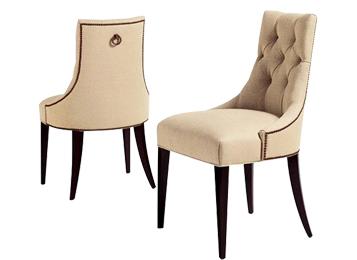 欧式实木拉扣软包靠背餐椅新古典田园餐椅