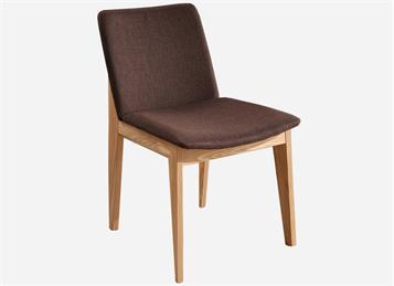 北欧简约布艺靠背白蜡木创意休闲餐椅