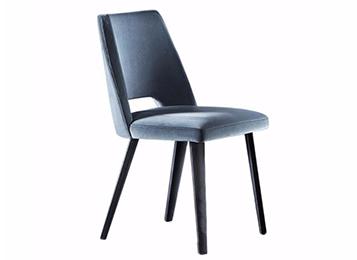 北欧实木餐椅复古时尚布艺休闲餐厅椅