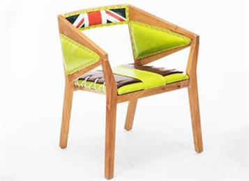 英伦复古高档带扶手椅 地中海全实木餐椅