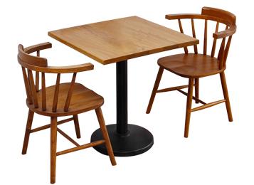 北欧原木温莎椅咖啡店餐桌椅组合