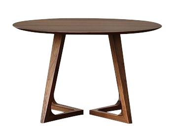北欧简约实木圆餐桌复古榆木大圆桌
