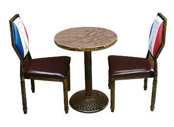 复古英伦工业风格防火板桌子