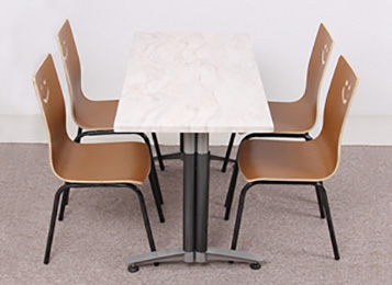 钱柜娱乐网站_高档现代简约不锈钢大理石餐桌_实木餐椅组合
