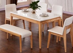 钱柜娱乐网站,钱柜娱乐官方网站_现代全实木餐桌大理石餐桌椅组合 长方形餐桌椅