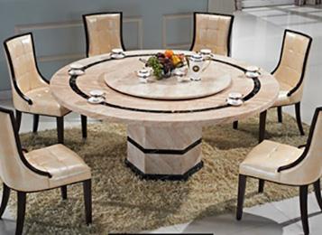 钱柜娱乐网站_大理石双层圆形精品餐桌可定做带转盘餐桌圆桌