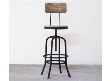 美式古典工业风铁艺酒吧高脚椅