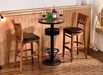 复古水曲柳酒吧吧台实木