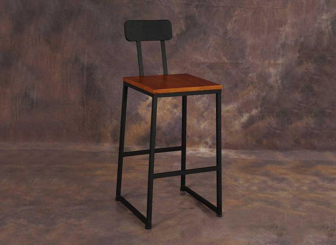 铁艺实木长桌吧台椅子酒