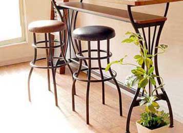 铁艺皮坐垫高脚酒吧椅凳