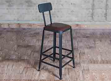 欧式吧台椅 铁艺酒吧椅高脚椅子