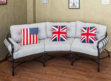 美式乡村LOFT复古铁艺沙发休闲咖啡椅