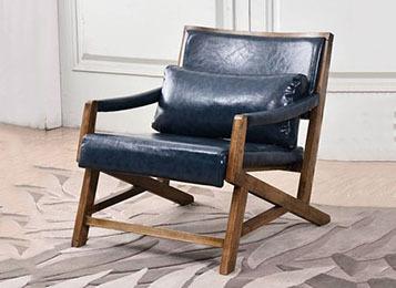 简约现代咖啡厅休闲扶手椅布艺椅