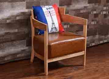 实木软包咖啡椅 咖啡厅专用椅
