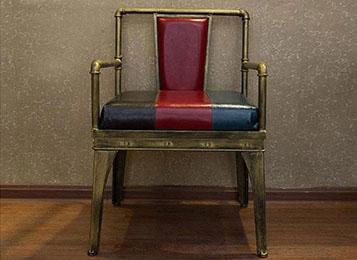美式复古工业风 loft做旧创意铁艺沙发椅