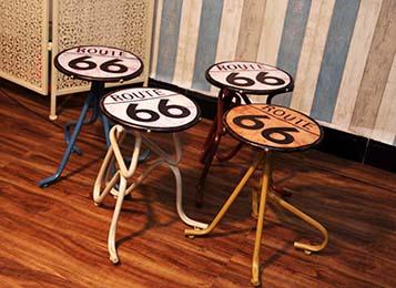 美式铁艺创意复古啤酒盖坐凳