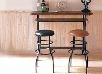 钱柜娱乐网站_美式铁艺loft桌  美式吧台桌椅