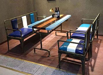 美式铁艺桌 复古工业风