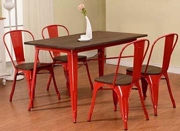美式乡村餐厅桌椅 铁艺loft工业风餐桌