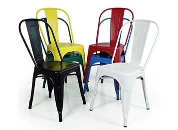 复古工业风西餐厅椅子