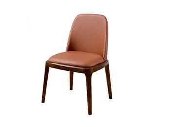 米兰欧式西餐椅 实木软包西餐桌椅