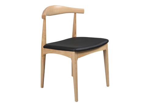 现代简约风格水曲柳西餐厅牛角椅