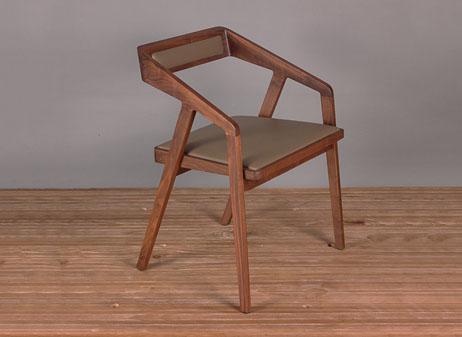 北欧实木西餐椅  西餐厅家具