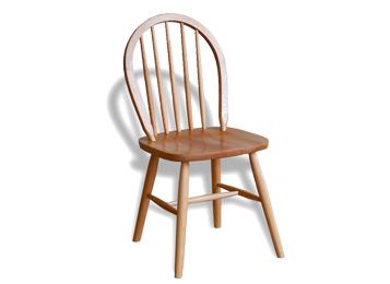 现代简约全实木温莎椅 孔雀靠背椅子