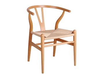 悠闲实木Y椅 现代简约靠背椅