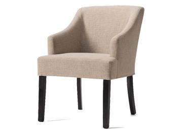 简约现代实木布艺餐椅 带扶手靠背椅